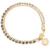 Armband Bohemian Style - 2 laags - Acryl Kralen - Goud - 18cm - Dames - Lieve Jewels