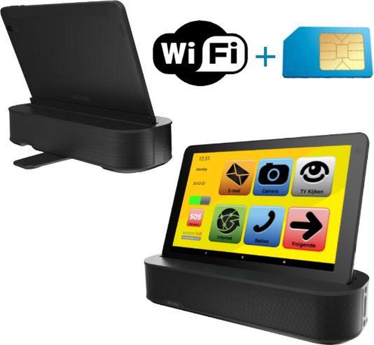 Senioren Tablet 32GB Wifi / 4G Met Sounddock Vlaamse Versie (De officiële SeniorenTab op basis van een Archos Tablet)