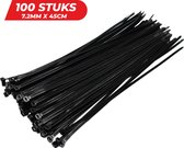 24ME® - Ultra Sterke Tyraps - 7.2mm X 450mm - Kabelbinders - Tie Wraps - 100 stuks