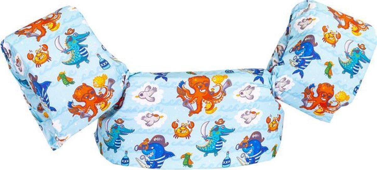 HappySwimmer - Zwembandjes/zwemvest voor peuters en kleuters met Zeedieren print