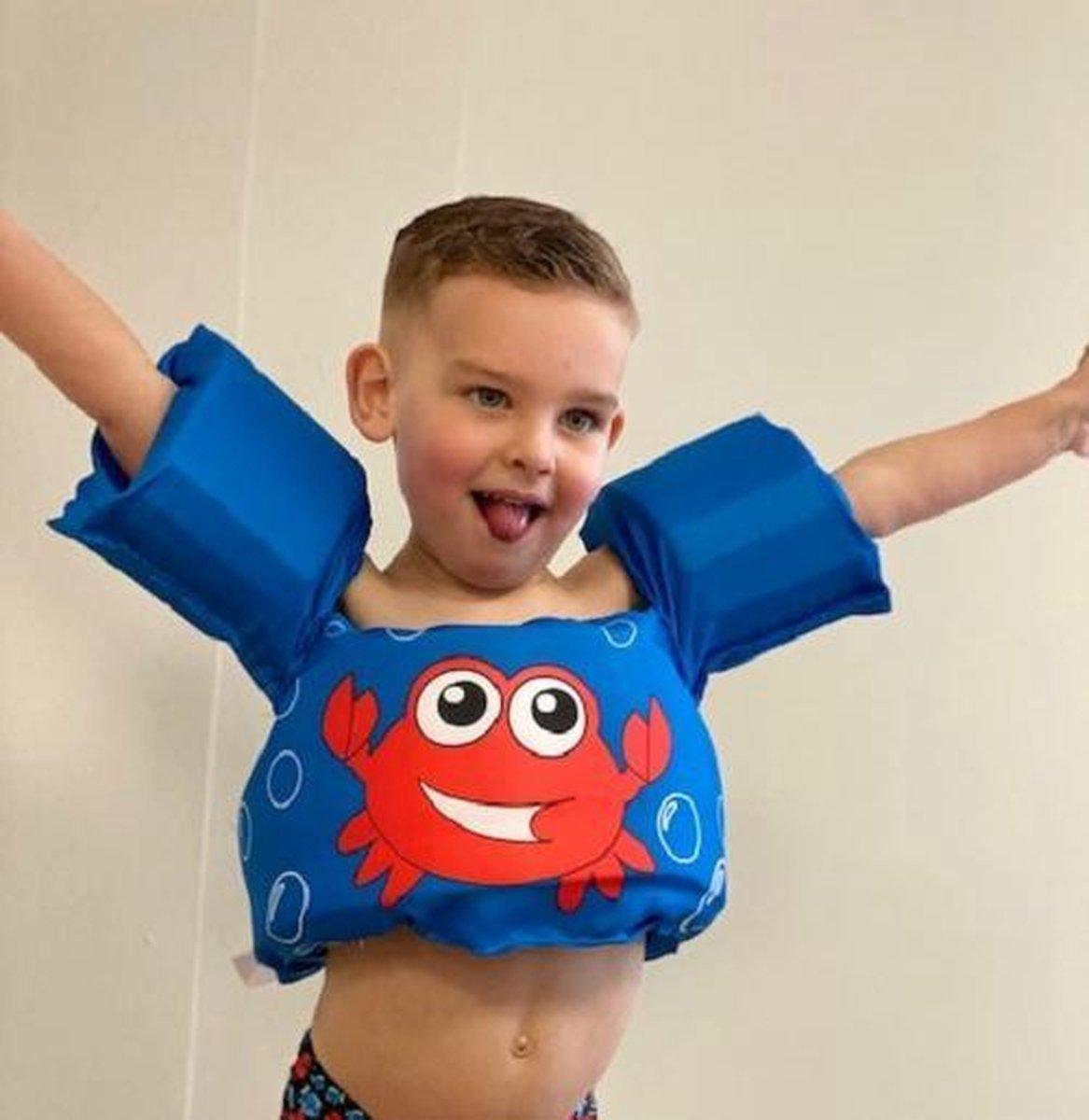 Zwemvest kinderen - krab | 2 - 6 jaar | 15 - 25kg | Veilig zwemmen | Zwemband | Reddingsvest