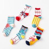Fun socks dames 36-41- Funny socks - Flamingo sokken - Grappige sokken - Gekke sokken - Leuke sokken - Vrolijke sokken - Huissokken - Feest sokken - Cadeaus voor haar - Cadeau voor vriendin