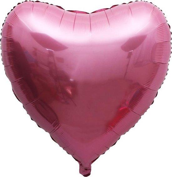 Hartballon / Folie ballon Hart - Roze - XXL 75cm