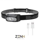 ZenXstore LED Hoofdlamp 250LM Waterbestendig Wit Licht + Rood Licht LED HeadLamp, 200LM Outdoor Mini