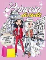 Princesa de Moda Libro para colorear de chicas 6-10
