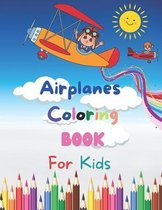 Airplanes Coloring Book For Kids