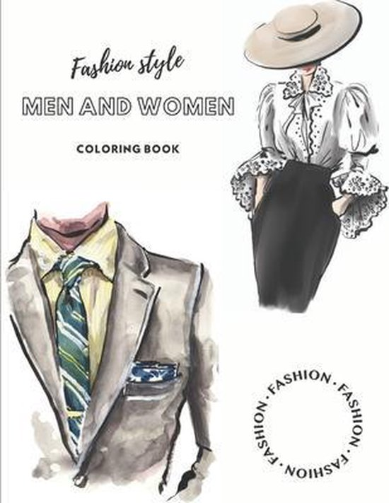 Fashion style Men and Women coloring book