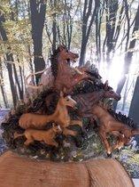 Paarden beeld paarden voor aan de muur H.Originals 34x26x12