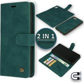 Apple iPhone 7 & iPhone 8 Hoesje Emerald Green - 2 in 1 Magnetic Book Case