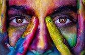 Gezicht met kleuren puzzel 1000 stukjes