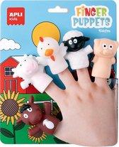 Apli Kids - Vingerpoppetjes Boerderijdieren - 5 stuks