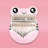 Kalimba set - 17 tonen - Duimpiano - Muziekinstrument - Gratis kazoo - Kristallen kleine kikker - Toetsen met tonal mark