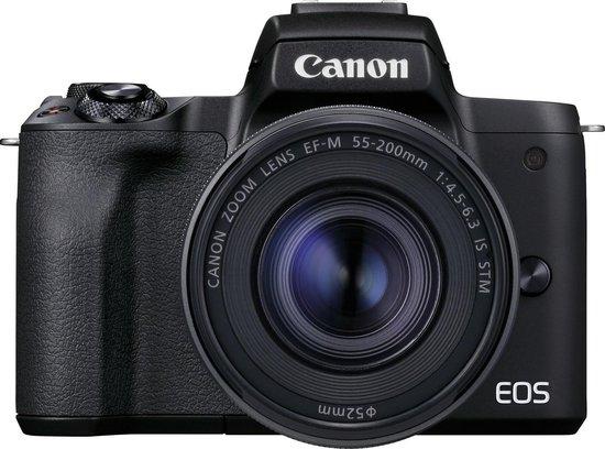 Canon EOS M50 Mark II + M15-45mm S - Zwart
