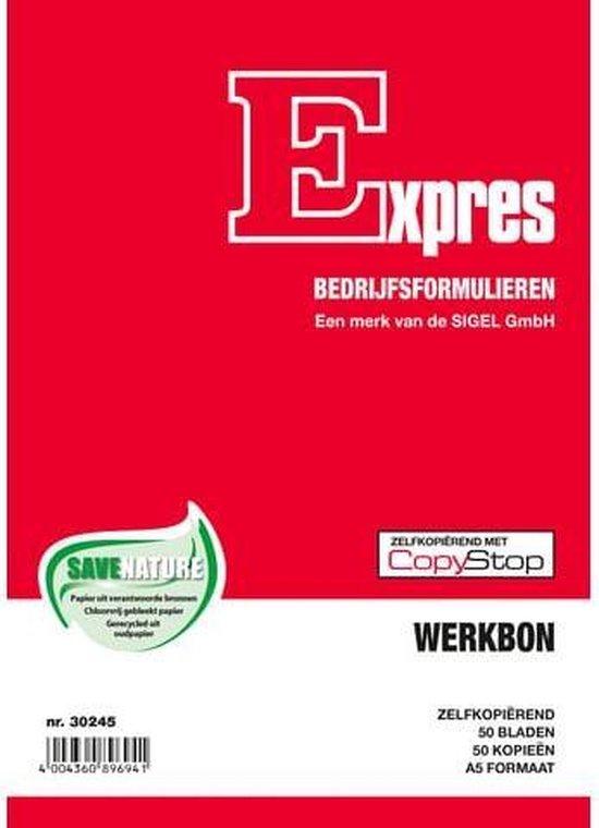 Werkbonblok Sigel Expres - A5 zelfkopierend 2x50 blad - Wit
