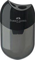 Puntenslijper Faber-Castell met afvalkoker zwart