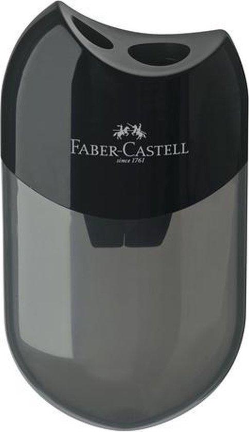 Afbeelding van Puntenslijper Faber-Castell met afvalkoker zwart