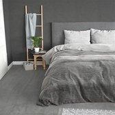 Sleeptime Flanel Stone Stripe - Dekbedovertrekset - Lits-Jumeaux - 240x200/220 + 2 kussenslopen 60x70 - Grijs