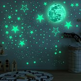 JUST23 Glow in the dark stickers - Glow in the dark sterren - Stickers - Sterrenhemel - Glow in the dark - Muurstickers kinderkamer