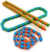 Wacky Tracks  24 schakels! - 3 Stuks - Fidget Toys Pakket - bekend van Tiktok