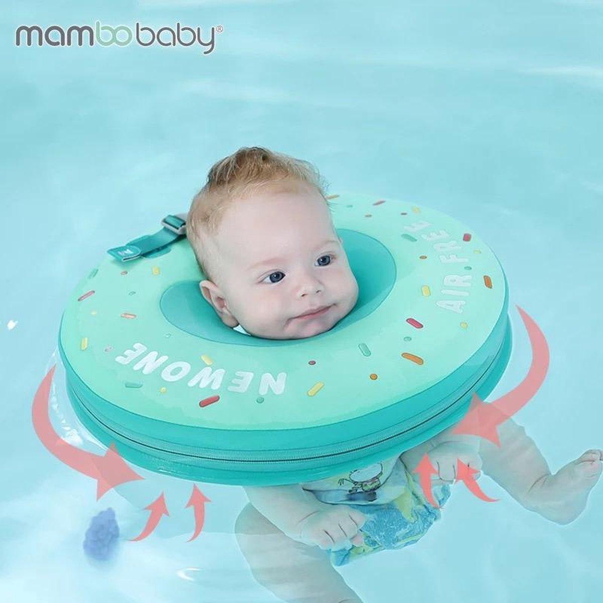 Baby Float, baby zwemband, Nekring, Baby Spa - Donut groen