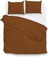 ZoHome Satinado Dekbedovertrek - Eenpersoons - 140x200/220 cm - Copper Orange