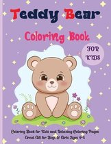 Teddy Bear Coloring Book For Kids