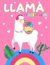 Llama Coloring Book: Cute Alpaca Coloring Books for Kids Ages 4-12