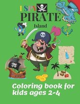 I SPY Pirate Island coloring book for kids ages 2-4