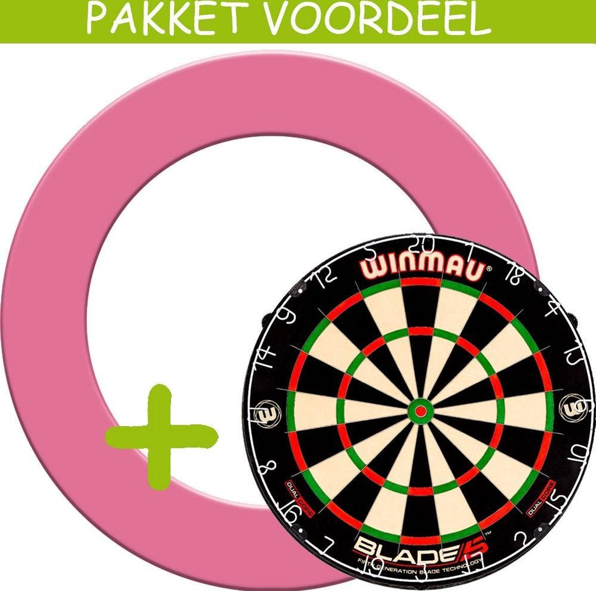 Dartbord Surround VoordeelPakket - Dual Core - Rubberen Surround-- (Roze)