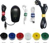 STONEGO - Velcro Kabelbinder - Zwarte Kabel Organizer - 1 Meter - Organiseer je Kabels met Klittenband