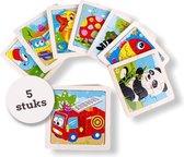 Uitdeelcadeau puzzel (9pcs) hout - 5 Stuks - Traktatie - Klein speelgoed - GRATIS Verzending