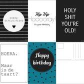 Hip23 | Wenskaarten set van 5 stuks. Bundel verjaardagskaart/felicitatie