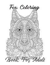 Fox Coloring Book For Adult