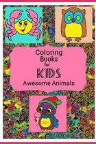 Coloring Books For Kids Awesome Animals