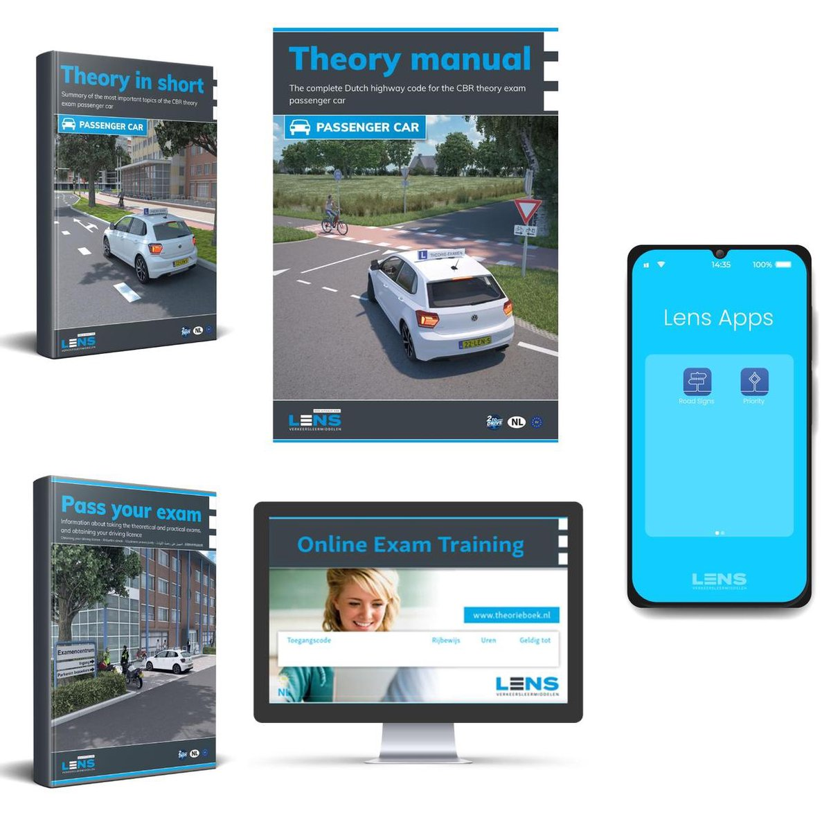 Auto Theorieboek Engels 2021 (English) - Car Theory Book in English for Dutch Driving License B + 50
