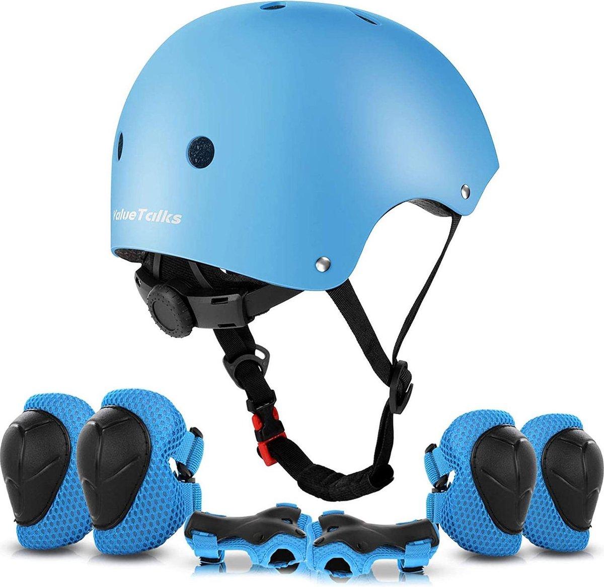 BPS® - Skate beschermset - Skeeler beschermset - Skate bescherming - Skatehelm - Skeeler Beschermset kinderen en volwassenen - Fietsbescherming - sportbescherming - skatehelm voor kinderen