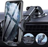 Universele Autohouder Telefoon Sterke Zuignap - Geschikt voor Dashboard - Voorruit - Raam - Bureau - Zwart