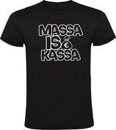 Massa is Kassa Heren t-shirt | Zwart
