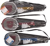 Badmintonset ST 6pc 3as Donnay Htf Incl 2 Rackets 3Shuttles 1 Carrybag
