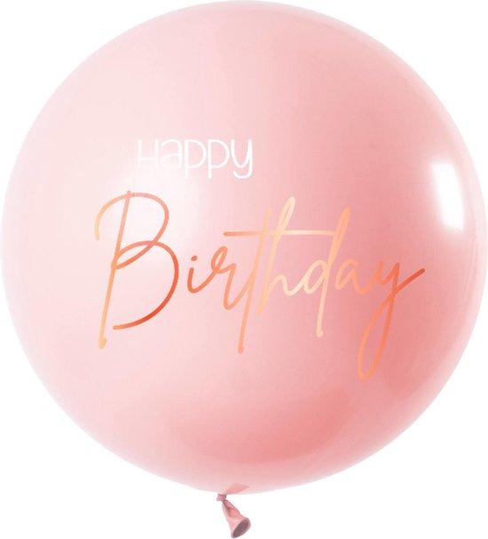 Happy Birthday Reuze Ballon Roze XL 80cm