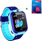 Smartwatch voor Kinderen - Inclusief Simkaart -  Kinder Horloge - LBS Tracking - Jongen - One Size - Blauw