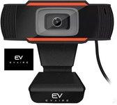 Evaire Webcam voor PC - Webcam met microfoon - Full HD webcam - Resolutie (1920 x 1080) - Webcam 1080P - Microfiber - Webcamera