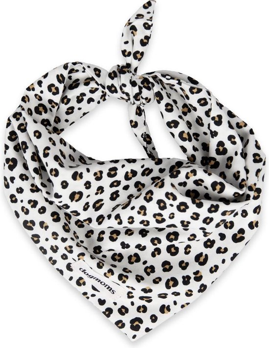 Honden bandana | Dogmoms halsdoek | Tijgerprint sjaal | hondenbandana | katoen | Oeko-tex gecertificeerd | M