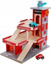 speel garage- parkeer garage hout