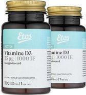 Etos Vitamine D3 25 µg hooggedoseerd - 600 kauwtabletten ( 2 x 300)