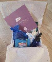 RuggeSteuntje - Geschenkset/Relax pakket - Giftset - ontspanning - Sodaliet - Frankincense - 102 gram