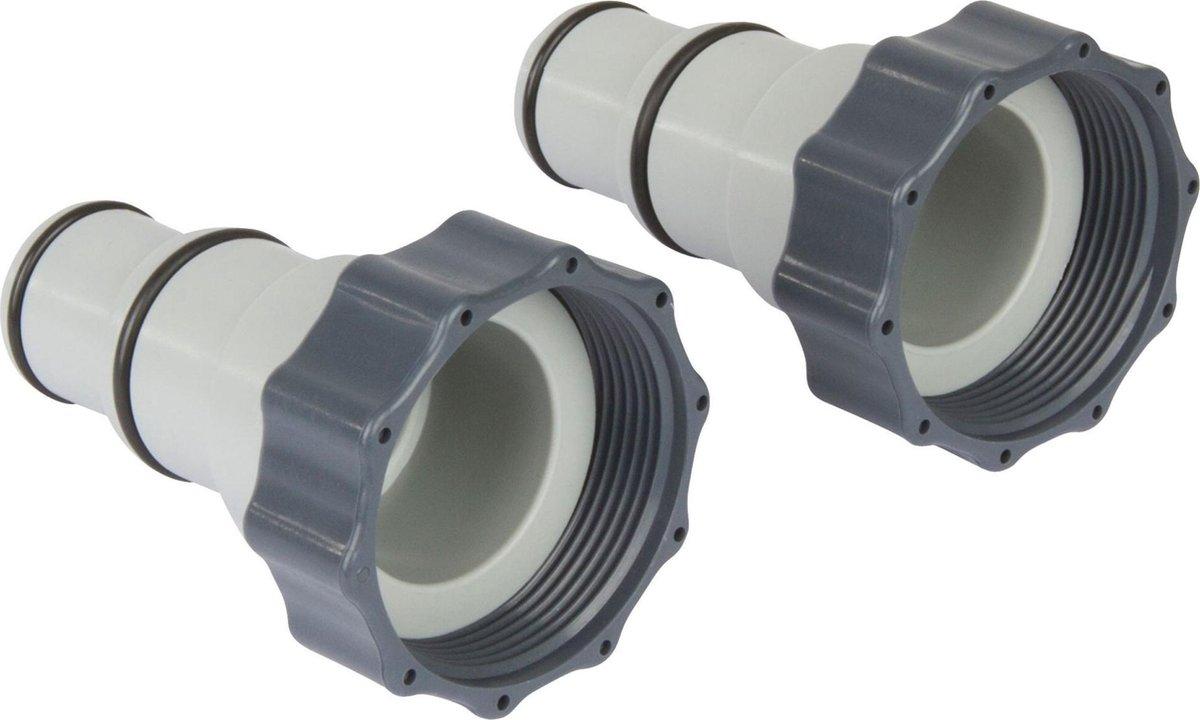 2 x Intex zwembad Slang Adapter A 32-38 mm - koppelstuk zwembad - verloopstuk filterpomp - verloopstuk zoutwatersysteem
