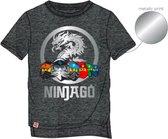 Lego Ninjago t-shirt - korte mouw - donkergrijs - Maat 116 / 6 jaar