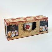 Yogi Tea Cadeauset - 2x Finest Collection kruidenthee (6x3 verschillende smaken) + theemok / theebeker / mok - Wit