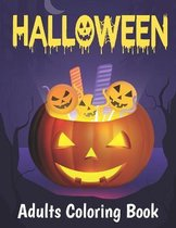 Halloween Adults Coloring Book